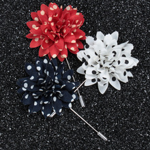 Christmas cloth flowers brooch badge for wedding invitations