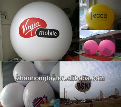 2016 Hot Sale 2m Round Helium Advertising Inflatable PVC Balloon