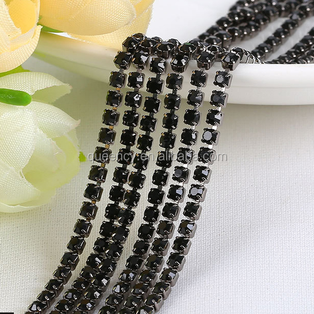 white <strong>K</strong> Plating Cup Chain roll rhinestone chain with high quality and good price