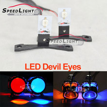 DMEX Free Shipping Demon LED Devil Eyes Fit For All Car Projector Headlight,Color White,Red,Blue,Green,Yellow