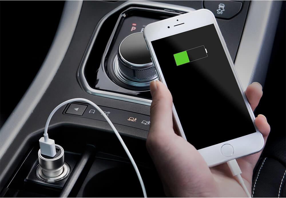 Original Xiaomi Roidmi C1 Car Charger Metal Body Dual USB Port 5V 3.6A Quick Charger Smart Charging Universal For iPhone iOS And Android (7)