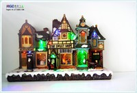 Hot sale Large Wall Decor The Street Scenery Christmas house