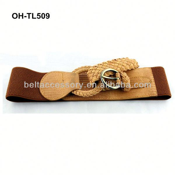 Big & Tall Available Marshal Wallet Mens Elastic Covered Buckle Braided Stretch Belt