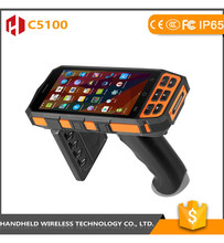 Handheld wireless C5100 Android Handheld RFID Reader with 1D 2D Bracode /4G/ Wifi / Bluetooth / Fingerprint / GPS / Infrared