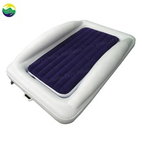 LC Camp or Home Use Kids Size with Security Rails Portable Inflatable Air Mattress Bed Toddler Travel Bed