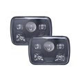 5x7'' square led headlight halo, sealed beam led headlight
