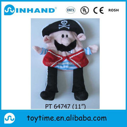 ASTM hot sale customised plush pirate play toy, promotional stuffed man