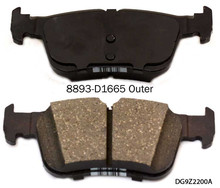 Cheap D1665 semi-metallic auto parts brake pads Best price high quality
