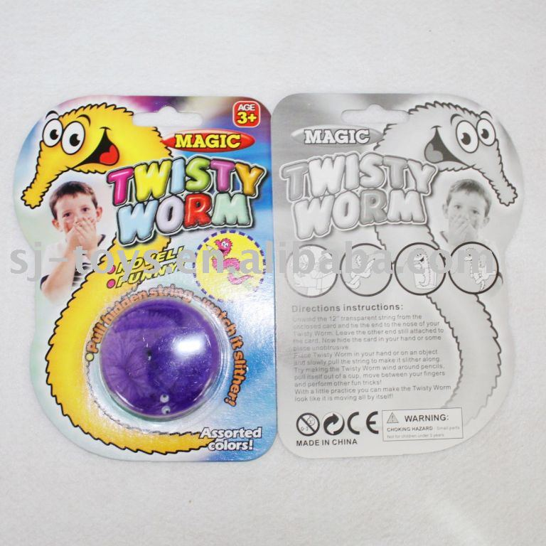 Magic Vivid Wiggly Twisty Fuzzy Worm Toy