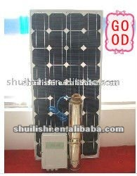 solar pump for water fountain, plastic impeller submersible Pump,4M3/H flow
