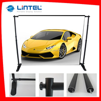 portable straight fabric trade show backdrop display