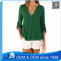 Ladies Casual Loose Button Long Sleeve Summer Blouses