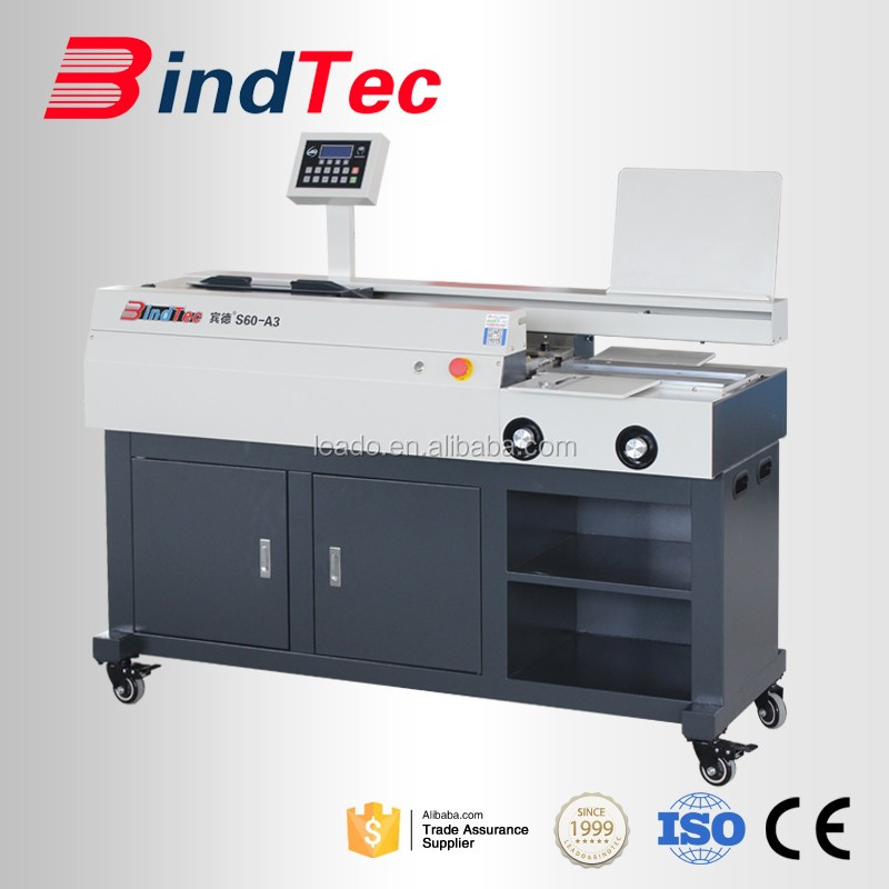 BD-S60-A3 Hot Melt Glue Book Binding Machine Perfect Book Binder