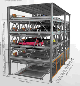 Automated Chain Vertical car parking tower building rotary automatic car smart tower parking system