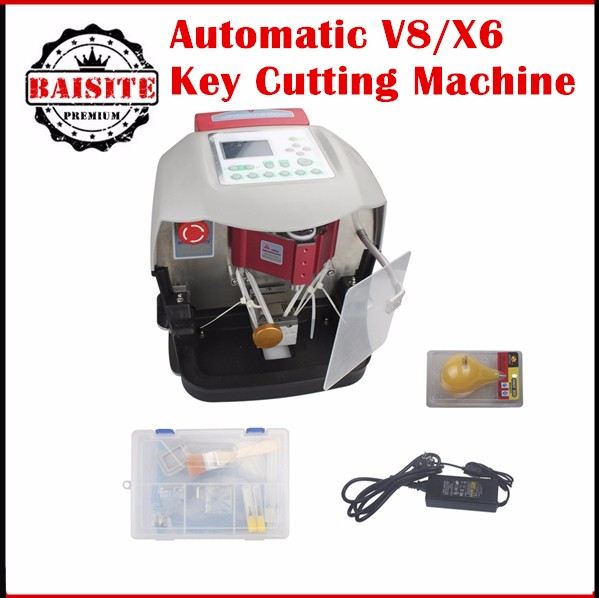 2017 New Arrival Automatic V8/X6 Key Cutting Machine X6 Car Key Cutting Machine V8 Auto Key Programmer With Free V2015 Database
