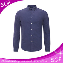 Polo cotton stylish long sleeve dress shirt for men