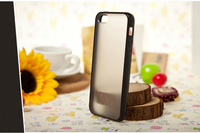 Cell phone accessories transparent phone case manufacturer matte tpu pc case for iphone5/6/6plus for samsungs4/s5/s6/s7 edge