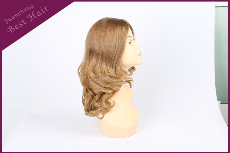 Blonde Color Full Lace Human Hair Wig, Wholesale Cheap Virgin Brazilian Hair