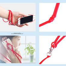 Portable Silicone Back Strap Band For Mobile Phones With Lanyard