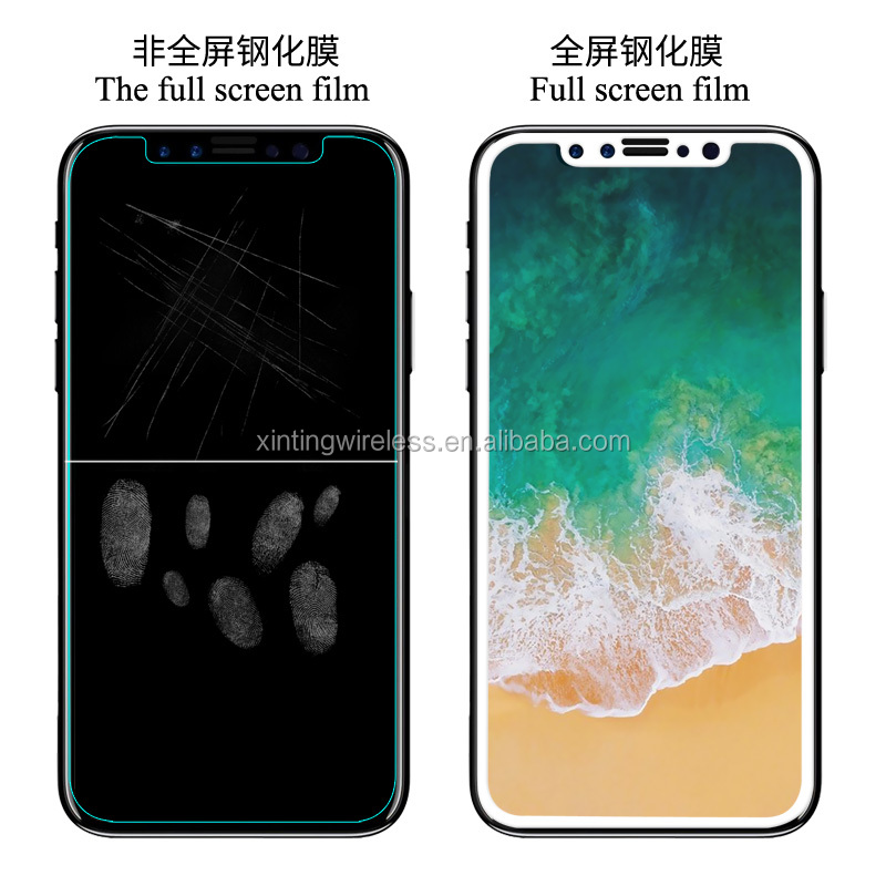 Anti-Fingerprint Anti-Broken Full Cover Tempered Glass For Iphone 8 Screen protector for iPhone 8 Clear full cover glass film