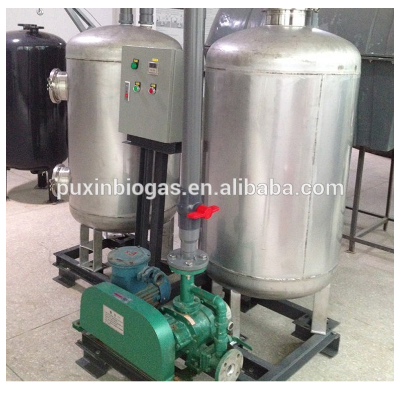 flow rate Less than 400M3/Day stainless steel dehydrator/desulfurization for biogas plant
