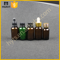 30ml Empty Wholesale Mini Decorative Amber Small Glass Essential Oil Bottle With Dropper Cap