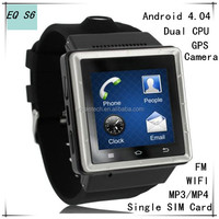 dual cpu Android wifi watch phone with gps bluetooth