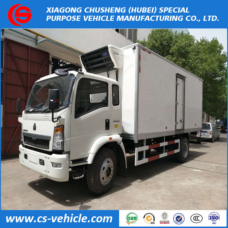 Foton 5ton refrigerated cooling van truck small refrigerator box truck