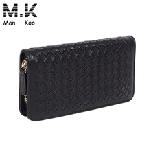 Coin Clutch Purse,Genuine Mens Leather Long Wallet