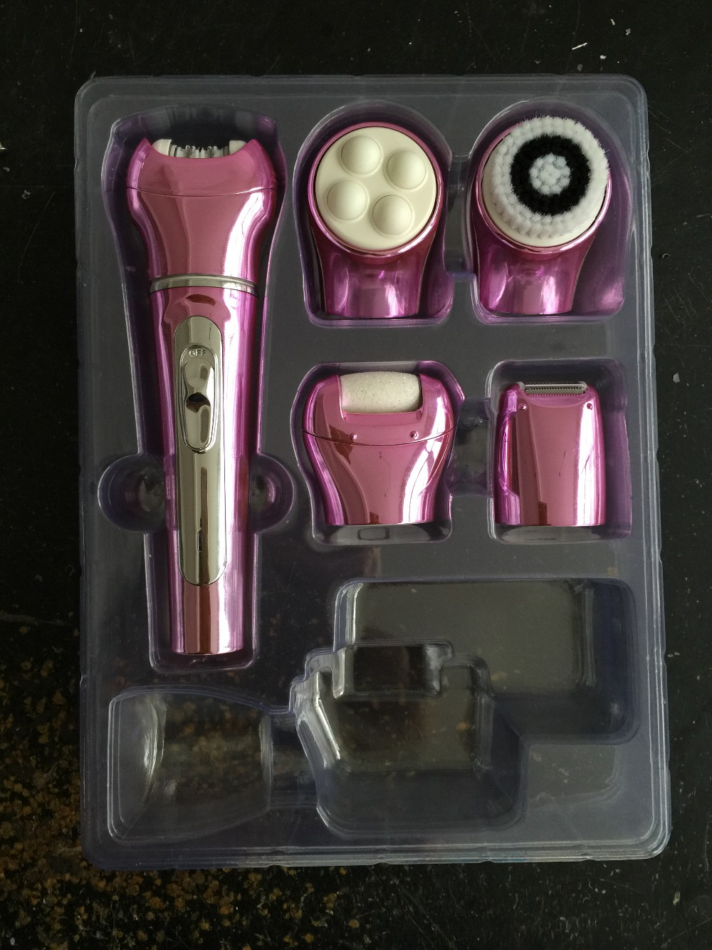 Multi-Function Travel Beauty Care Kit With Facial Cleaning, Massager, Shaver,Callus Remover