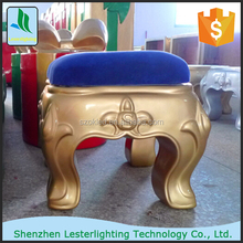 Hot selling! 45X45X45cm golden (any color) indoor or outdoor use fiberglass stool decoration