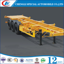 Low Price ISO Quality Container Semi Trailer 40FT Skeleton Chassis