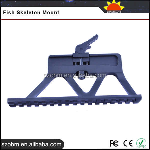 Aluminum Alloy Side Mount Railing Tactical QD Buttstock Fish Skeleton Mount