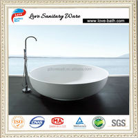 Italia classic design natural stone and resin stone round bathtub for bathroom furniture