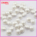 color won't come off fadeless white pearl button for lady's fashion
