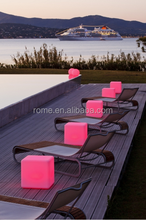 Light up PE plastic chairs/led chair/light cube seat
