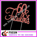 fashion wholesale 60 fabulous wedding rhinestone cake topper for party decoration