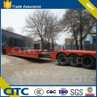 hot sell extendable lowbed flatbed type semi trailer for steel material transport export to Trinidad and Tobago