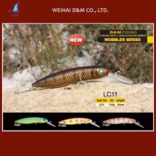 New mould wholesale fishing gear 100mm hard plastic stick bait lure