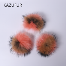 New fashion fur ponpon charm for bags for girls raccoon fur pompoms KZ160067