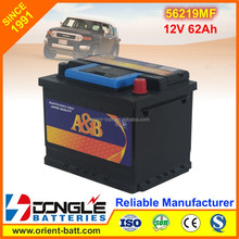 Strong Power and Long Life 12V 62Ah European Car Battery