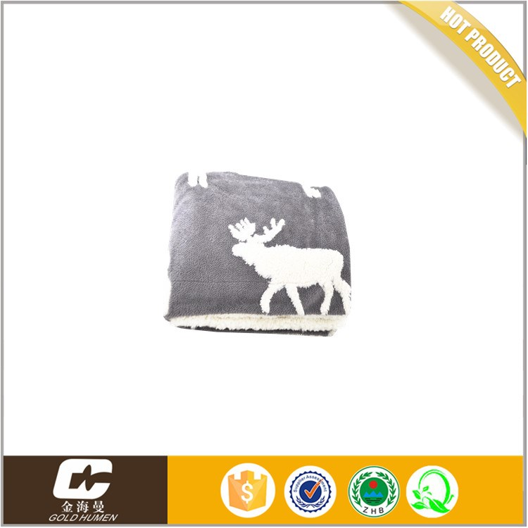 china alibaba Hot Selling High Quality Soft Jacquard Cashmere soft fleece blanket