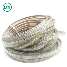 220V IP65 Waterproof RGB 100m/roll 5050 LED Strip Light 60led/m