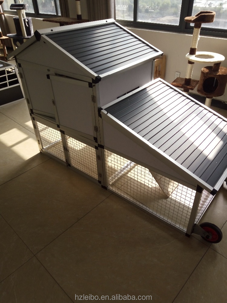 the lastest outdoor aluminium poultry cage with wheels