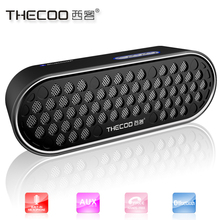 THECOO unique bass-reflex enclosure design bluetooth rechargable speaker with amazing stereo and surround sound
