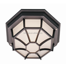 Wholesale Modern Antique Design Aluminum & Glass Black Contemporary Ceiling Light with IP44