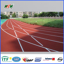 High quality IAAF synthetic rubber tartan track