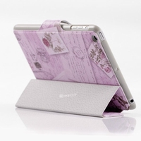 fancy design stand flip leather case for ipad mini