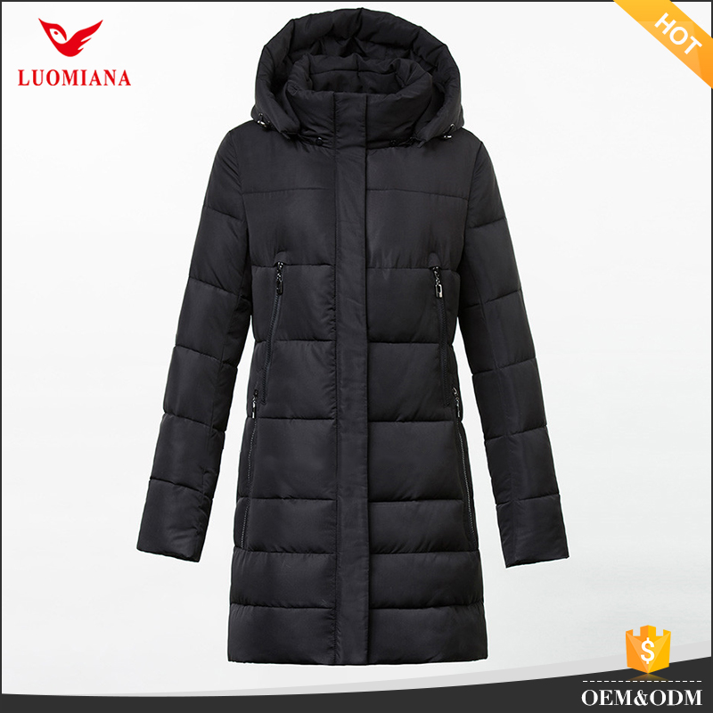 first down women jacket winter coat with zipper pocket coat jacket for ladies brand name hooded jacket