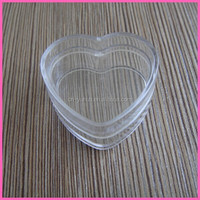PJ1020 Yuyao Yuhui Commodity 2014 hot sale wholesale good PS 4ml heart shape jars for small things